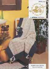 PATONS Aran Knitting PATTERN 2130 Zorba il Greco Throw + BATH MAT