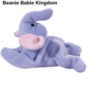 Ty Beanie Baby * PEANUT * The Light Blue Body Elephant aprox. 7 inches