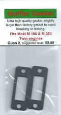 Moki M 180 & M 360 Twin Exhaust/Muffler Gasket 2 Pack-NIP