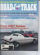 Road & Track August 1977, Porsche 924, Ferrari 308GT, Mercedes-Benz 450 ////////