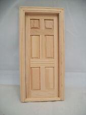 DOOR - 6 PANEL INTERIOR  dollhouse miniature wooden 6007 Fairy Door 1/12 scale