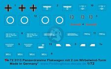 Peddinghaus 1/72 Panzerdraisine Flakwagen Armored FlaK Car Markings WWII 3113