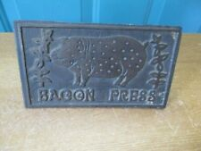 Retro Cast Iron Bacon Press with Wooden Handle