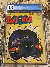BATMAN #20 CGC 5.0 OW PAGES GOLDEN AGE HI END BEAUTY 1ST BATMOBILE CV JOKER APP
