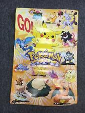 Nintendo 1998 Pokemon Pocket Monsters Pikachu Charizard MewTwo Articuno Poster