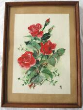 Künstlerische Aquarell-Malereien mit Blumen-Thema