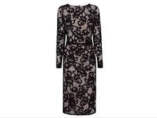 BNW🎀Coast🎀Size 8 CORALLA BLACK Mono FLORAL LACE PENCIL DRESS (36 EU, 4US) New