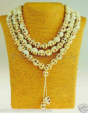 NECKLACE MALA NEPAL Marble Design Lilly Fairy Fashion Jewellery 123E