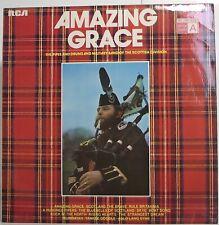 """AMAZING GRACE Military Band Of The Scottish Division LP Album 12"""" 33rpm Vinyl EX"""