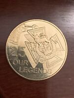 """2016 25 cents /""""LONG TAN/"""" Nordic Gold uncirculated specimen coin in card of issue"""