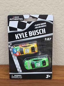 2020 Wave 1 Kyle Busch M&M's Interstate Battery 1/87 NASCAR Authentics Twin Pack