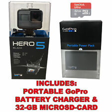 GoPro HERO5 Black 4K HD Waterproof Action Camera +32GB SD-Card +Battery Charger