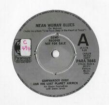 COMMANDER CODY * MEAN WOMAN BLUES *  DEMO SINGLE PARAMOUNT PARA 3046 PLAYS GREAT
