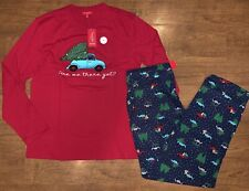 """Mens Small Holdiay Pajama Set """"Are We There Yet"""""""