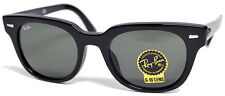 New Authentic Ray-Ban Wayfarer Meteor RB4168F 901 Black Frm Green G-15 52mm Lens