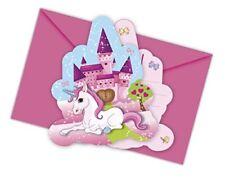 Procos 85675 Petite Licorne Die Cut invitation avec enveloppes