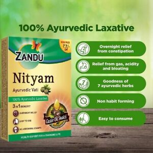 🇬🇧 30 tabs Nityam 100% Ayurveda herbal Laxative bowel ease Constipation 🇬🇧