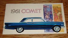Original 1961 Mercury Comet Deluxe Sales Brochure 61 Sedan Station Wagon