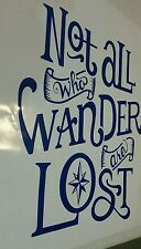 "Large Campervan stickers "" Not all who wander are lost "" 4x4 ute decals"