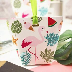 Birthday Party Gift Bag Food Candy Cookies Packaging Bags Cute Design Box 10pcs
