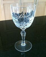 Crystal Cut Wine Glass Stem Goblets Etched Vintage Sprite Drinks Bar Yugoslavia
