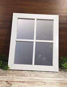 Farmhouse white window mirror