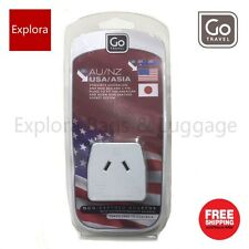 Go Travel Non-Earthed Adaptor From AU / NZ to USA / ASIA