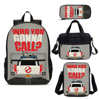 Ghostbusters Kids Backpack Schoolbag Insulated Lunch Bag Pen Case Boys Gifts Lot