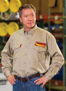 NEW Veratti® FR AR™ Work Shirt 8.9 cal, CAT 2, Khaki Long Sleeve-Flame Resistant