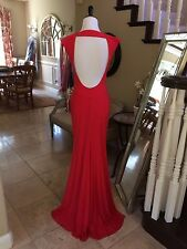 $298 NWT RED JVN BY JOVANI PROM/PAGEANT/FORMAL DRESS/GOWN #22575 SIZE 0