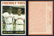 (44859) 1964 Topps 41 Friendly Foes-Willie McCovey-Wagner-EM