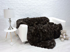 RARE ! LUXURY REAL SABLE  BLANKET THROW BROWN COLOR DOUBLE SIZE    280