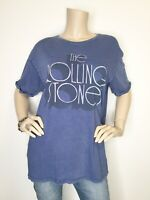 New American Eagle The Rolling Stones Large Blue Graphic Tee Short Sleeve Shirt
