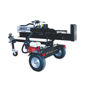 Log Splitter 30 Ton Hydraulic Petrol Wood Cutter w/ Side Table Black Diamond