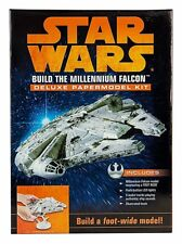 DISNEY STAR WARS BUILD THE MILLENNIUM FALCON DELUXE PAPERMODEL KIT