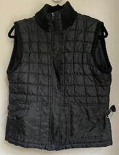 BLACK QUILTED GILET PILOT M WINTER XMAS TOWIE CELEB PARTY CHELSEA LUXURY CHIC