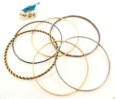SET OF 6 METAL BRACELETS BANGLE STYLE - Accessories / Trend
