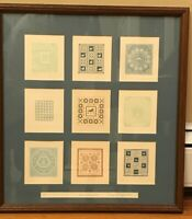 """Mary Rutherford Signed Artist Proof Embossed Paper Quilts The Collection 18.5"""""""