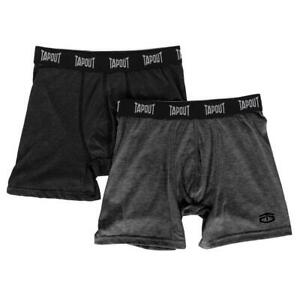 TapouT Mens Athletic Underwear - 2-Pack Stretch Athletic Boxer Briefs