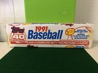 1991 TOPPS COMPLETE FACTORY SEALED SET OF BASEBALL CARDS 40th Anniversary