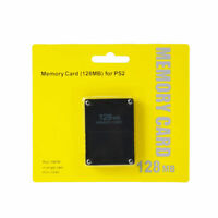 128MB Megabyte Memory Card For Sony PlayStation 2 PS2 Slim Console