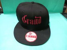 60a6437a317 GRAND MARNIER BLACK SNAP BACK OLD SCHOOL FLAT BILL HAT CAP ADJUSTABLE  EMBROIDERE