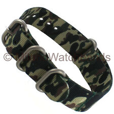 20mm Hadley Roma Mens Jungle Camo Nylon Waterproof Sport Wrap Watch Band