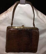 vtg STERLING alligator CROCODILE BAG Purse Sterling leather lined EUC