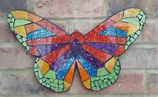 Gorgeous Butterfly Mosaic Hanging Wall Art Decoration 40cm Handmade Gift New