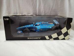 MINICHAMPS BENETTON B200 1st TEST DRIVE 2000 1:18 JENSON BUTTON RARE UNUSED