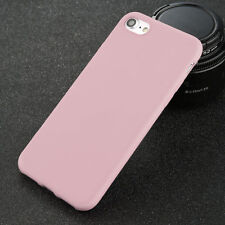 For iPhone 5 6s 7 8 Plus Shockproof Thin Soft TPU Silicone Matte Back Case Cover