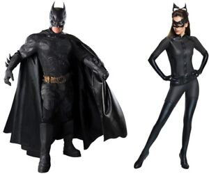 Couple Costume Batman Catwoman Black Dark Knight Rises Licensed Collector Rubies
