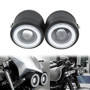 Universal Dual Twin Headlight Motorcycle Fit For Harley Streetfighter Dirt Bike