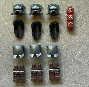 Lego Lord of the Rings URUK-HAI MINIFIGURE PARTS Incomplete Helmet Head Legs